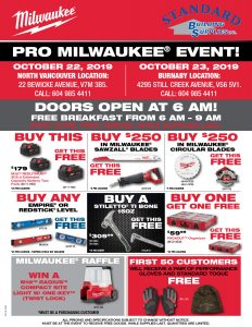 Milwaukee Sales Event October 22nd and 23rd Flyer