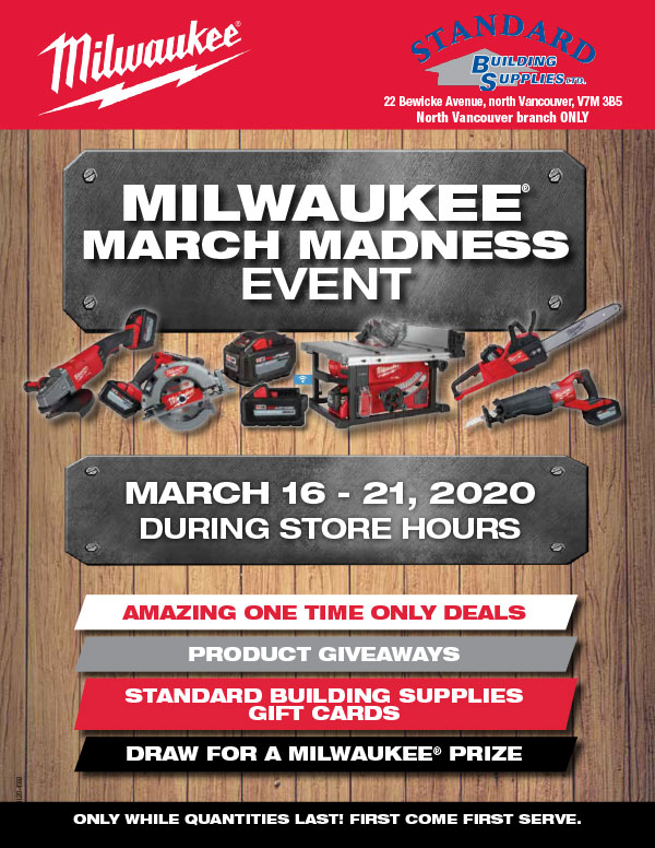 Milwaukee Sales Event March Flyer